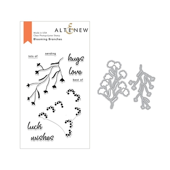 Altenew BLOOMING BRANCHES Clear Stamp and Die SET ALT2678