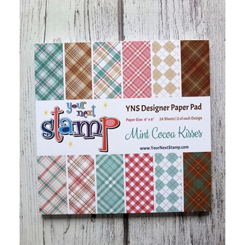 Your Next Stamp MINT COCOA KISSES 6X6 Paper Pack ynspp025