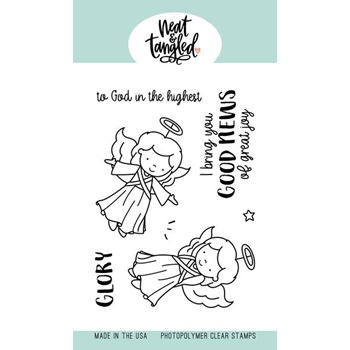 Neat and Tangled ANGEL WINGS Clear Stamps NAT426