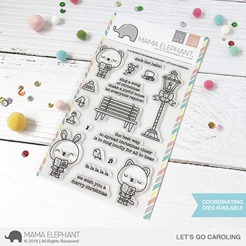 Mama Elephant Clear Stamps LET'S GO CAROLING
