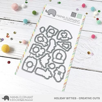 Mama Elephant HOLIDAY BITTIES Creative Cuts Steel Dies