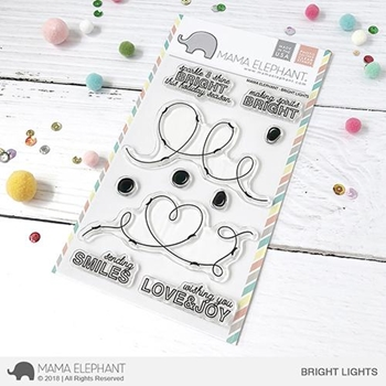 Mama Elephant Clear Stamps BRIGHT LIGHTS