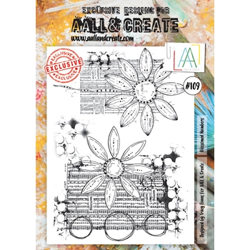 AALL & Create BLOSSOMED NUMBERS Clear Stamp aal00109