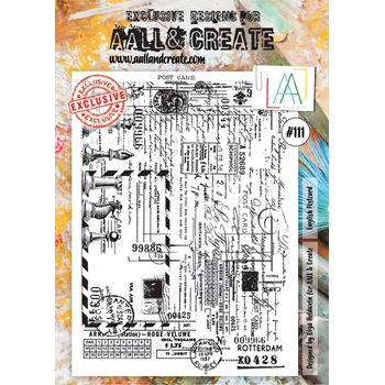 AALL & Create ENGLISH POSTCARD Clear Stamp aal00111