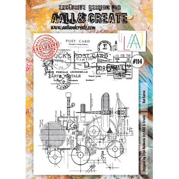 AALL & Create RED BARON Clear Stamp Set aal00114