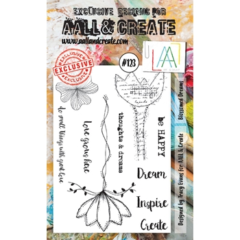 AALL & Create BLOSSOMED DREAMS Clear Stamp Set aal00123