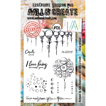 AALL & Create CIRCLE AROUND Clear Stamp Set aal00126