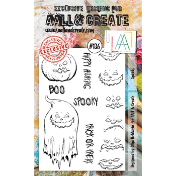 AALL & Create SPOOKS Clear Stamp Set aal00136