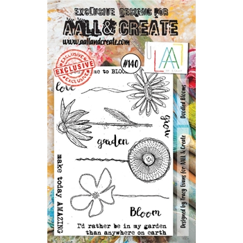 AALL & Create DOODLED BLOOMS Clear Stamp Set aal00140
