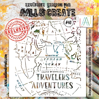 AALL & Create ADVENTURE MAP Stencil aal10040