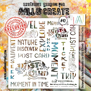 AALL & Create TRAVELERS NOTES Stencil aal10042