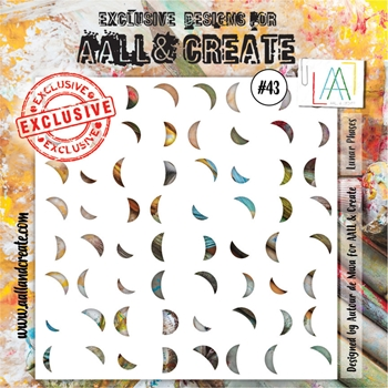AALL & Create LUNA PHASES Stencil aal10043