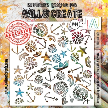 AALL & Create AT THE SEA SIDE Stencil aal10044