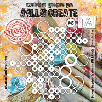 AALL & Create DIGITAL BUBBLES Stencil aal10045
