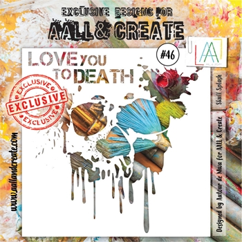 AALL & Create SMALL SPLASH Stencil aal10046