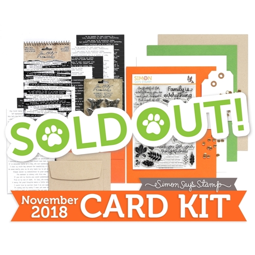 Simon Says Stamp Card Kit of The Month NOVEMBER 2018 THANKS AND LEAVES ck1118 Preview Image
