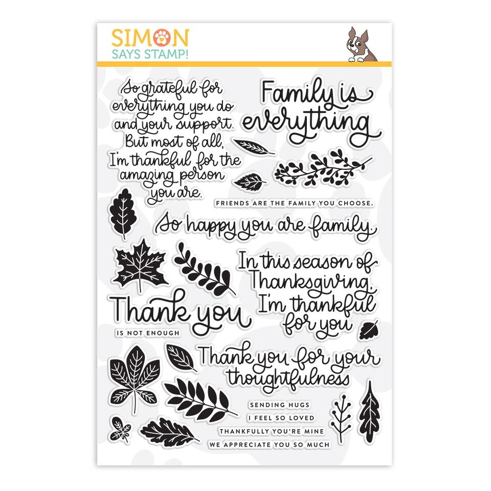 Simon Says Clear Stamps THANKS AND LEAVES SSS101894 zoom image
