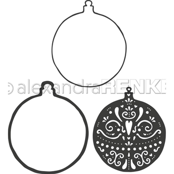 Alexandra Renke ORNAMENT CHRISTMAS BALL Dies darw0081