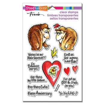 Stampendous Clear Stamps GORILLA LOVE ssc1295