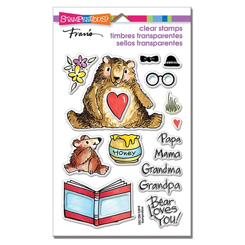 Stampendous Clear Stamps HONEY BEARS ssc1296 Preview Image