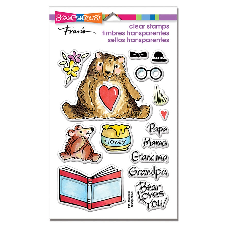 Stampendous Clear Stamps HONEY BEARS ssc1296 zoom image