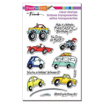 Stampendous Clear Stamps WHEELS ssc1297