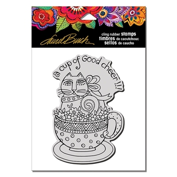 Stampendous Cling Stamp FELINE CUP Laurel Burch lbcp016