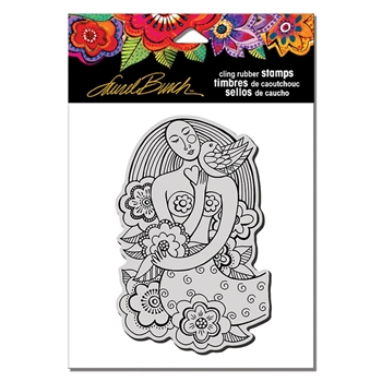 Stampendous Cling Stamp MERMAID HEART Laurel Burch lbcp015