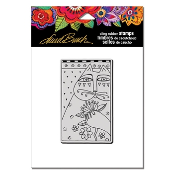 Stampendous Cling Stamp SENTIMENTAL FELINE Laurel Burch lbcm005