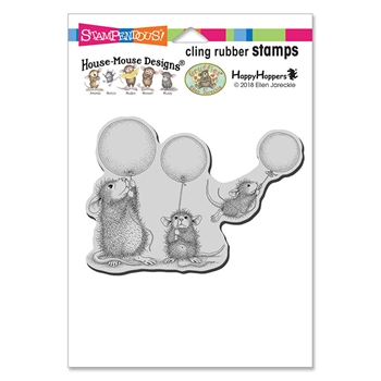 Stampendous Cling Stamp BALLOON FUN hmcp103 House Mouse