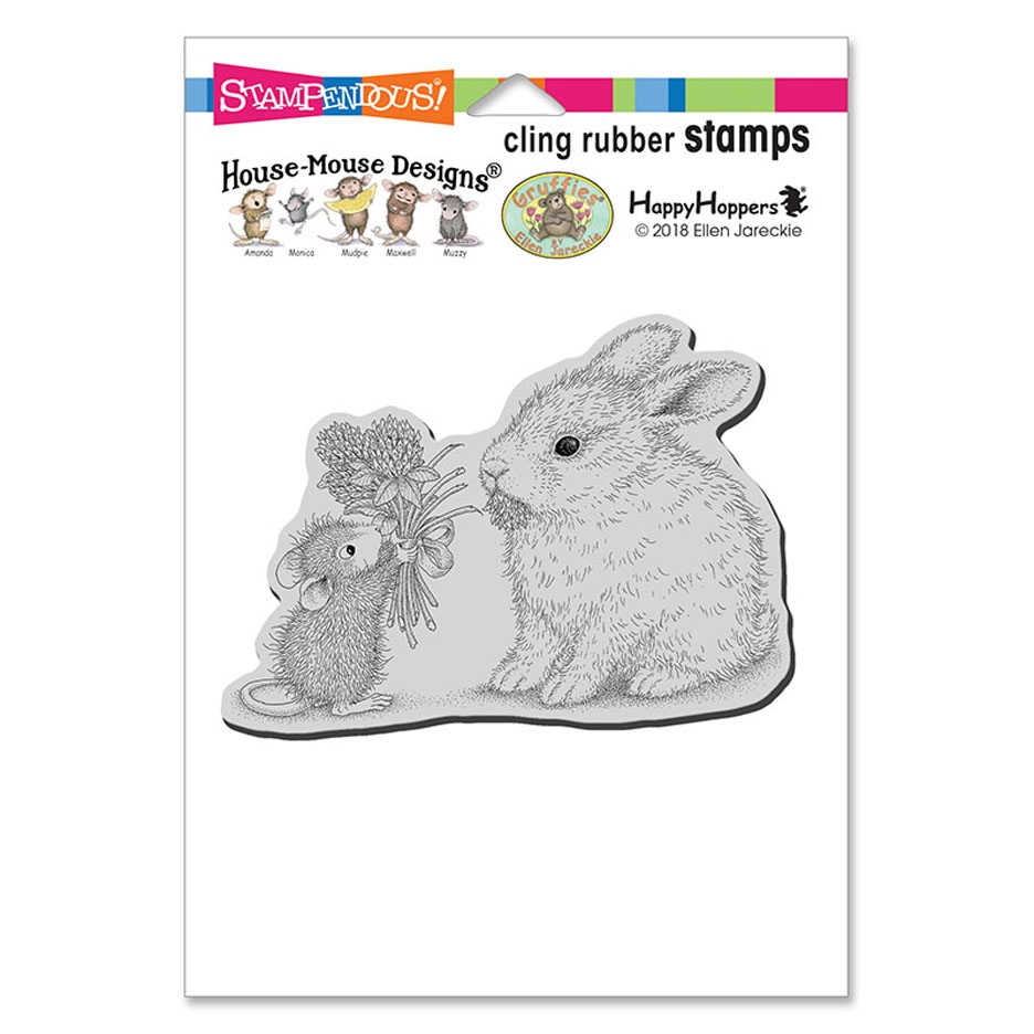 Stampendous House Mouse, Clover Bouquet Cling Stamp