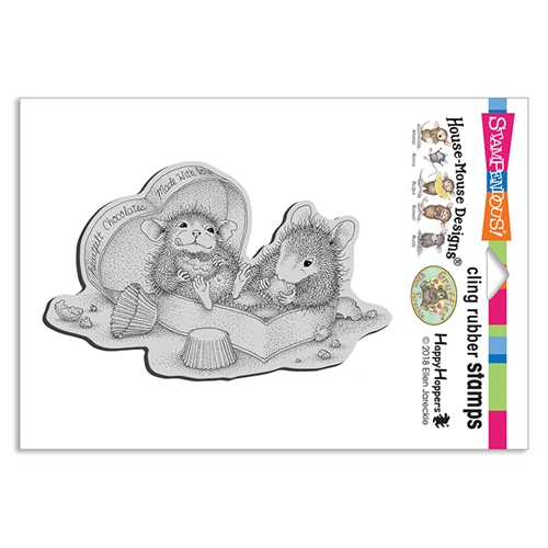 Stampendous, House Mouse Heartfelt Chocolates Cling Stamp