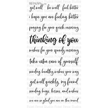 Picket Fence Studios WAYS TO GET WELL Clear Stamp Set s138