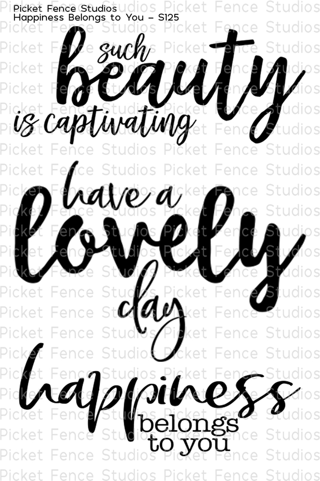 Picket Fence Studios HAPPINESS BELONGS TO YOU Clear Stamp Set s125 zoom image