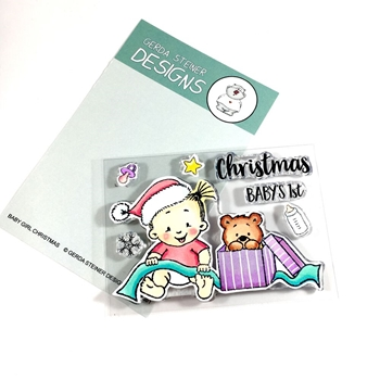 Gerda Steiner Designs BABY GIRL CHRISTMAS Clear Stamp Set gsd651