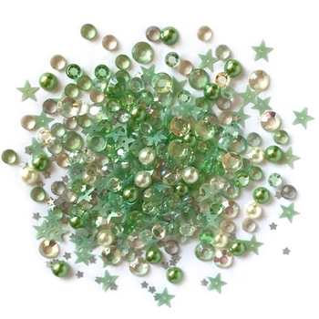 Buttons Galore and More Sparkletz WINTERS EVERGREEN Embellishments SPK121