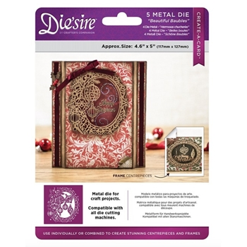 Crafter's Companion BEAUTIFUL BAUBLES Die'sire Create A Card Die ds-cadx-bba