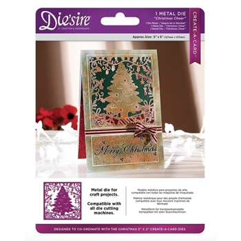 Crafter's Companion CHRISTMAS CHEER Die'sire Create A Card Die ds-cadx-cheer