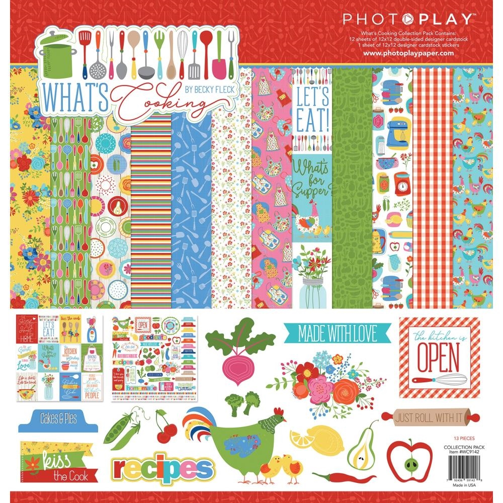 PhotoPlay WHAT'S COOKING 12 x 12 Collection Pack wc9142 zoom image