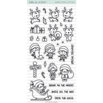 Hello Bluebird NORTH POLE LITTLES Clear Stamps hb2136