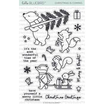 Hello Bluebird CHRISTMAS IS COMING Clear Stamps hb2141