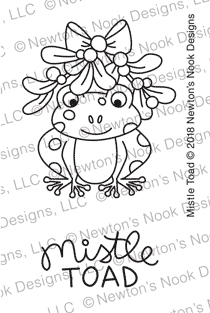 Newton's Nook Designs MISTLE TOAD Clear Stamps NN1810S07