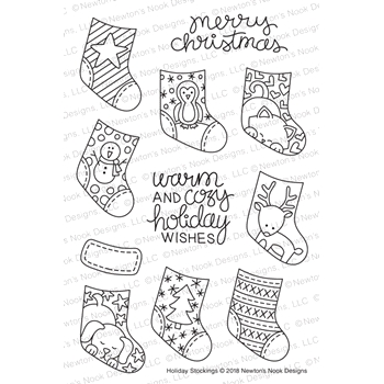 Newton's Nook Designs HOLIDAY STOCKINGS Clear Stamps NN1810S09