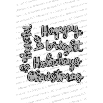 Newton's Nook Designs HOLIDAY GREETINGS Dies NN1810D10