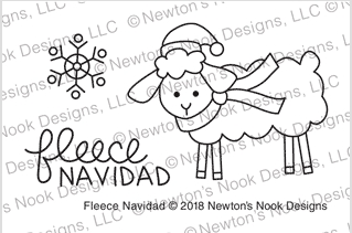 Newton's Nook Designs FLEECE NAVIDAD Clear Stamps NN1810S08