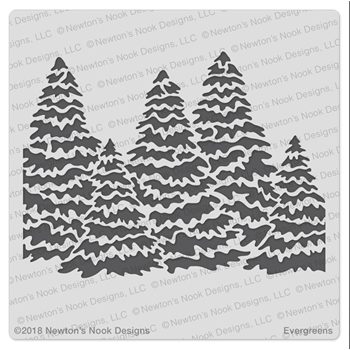 Newton's Nook Designs EVERGREEN Stencil NN1810T01