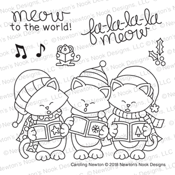 Newton's Nook Designs CAROLING NEWTON Clear Stamps NN1810S04