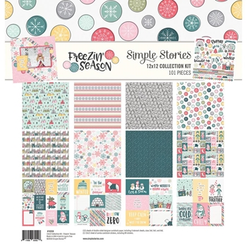 Simple Stories FREEZIN SEASON 12 x 12 Collection Kit 10358