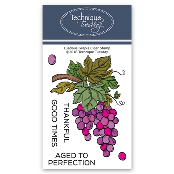 Technique Tuesday LUSCIOUS GRAPES Clear Stamps 02727