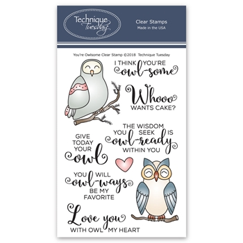 Technique Tuesday YOU'RE OWLSOME Clear Stamps 02607